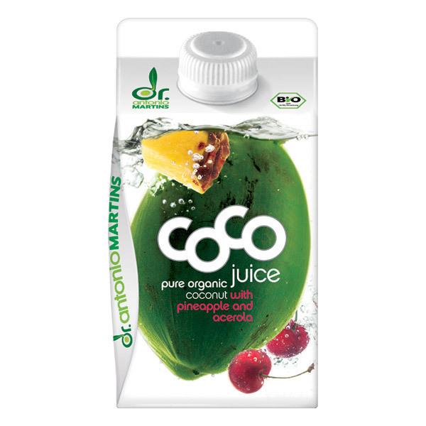 Dr. Antonio Martins - Eau de coco Ananas Acerola 500 mL