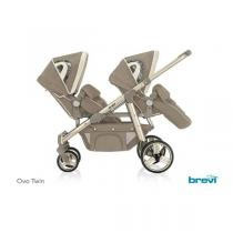 Brevi - Poussette jumelle OVO Twin Taupe
