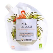 Comptoirs et Compagnies - Perle de Coco Huile de Coco Vierge Bio - Doypack de 250mL