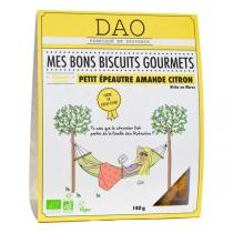 Dao - Biscuits Petit épeautre, Amande et Citron vegan bio - 140 g