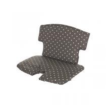 Geuther - Coussin de chaise Syt tissu gris pois blanc