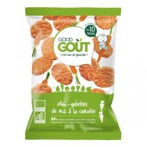 Good Gout - Lot 2 Mini-galettes de riz à la carotte 40g