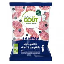 Good Gout - Lot 2 Mini-galettes de riz à la Myrtille 40gr