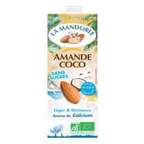La Mandorle - Lait d'amande et coco sans sucres Calcium 1L