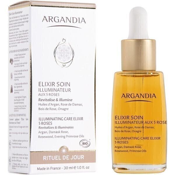 Argandia - Elixir Soin Illuminateur aux 5 roses - 30 mL