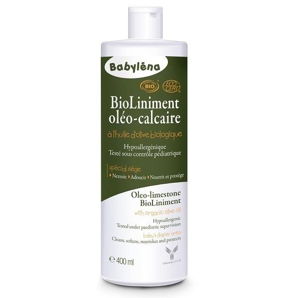 Babylena - Liniment Oléo calcaire Bio 400ml à l'huile d'olive