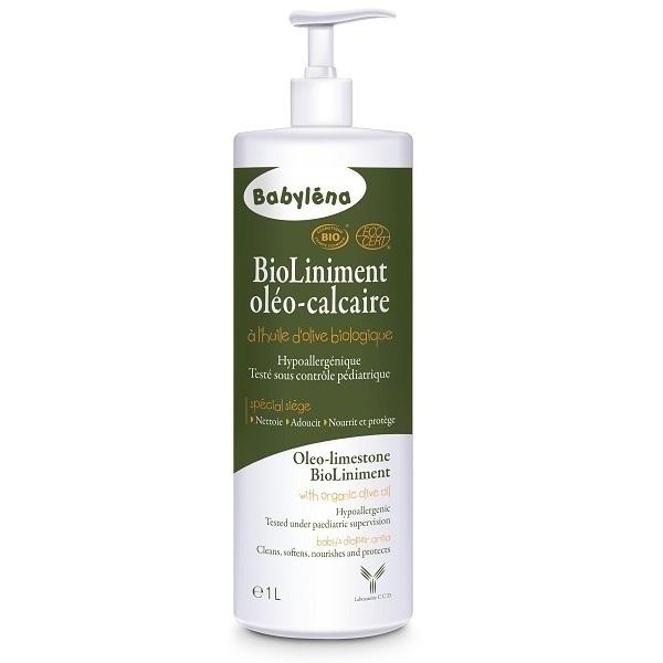 Babylena - Liniment Oléo calcaire Bio 1L à l'huile d'olive