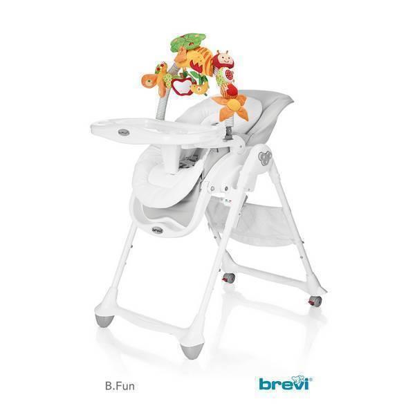 Brevi - Chaise 2 en 1 B-FUN Gris Perle