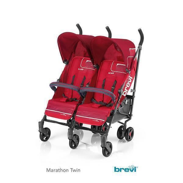 Brevi - Poussette jumelle Marathon Twin Rouge