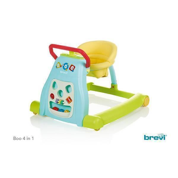 Brevi - Trotteur Boo 4 en 1 Multicolore