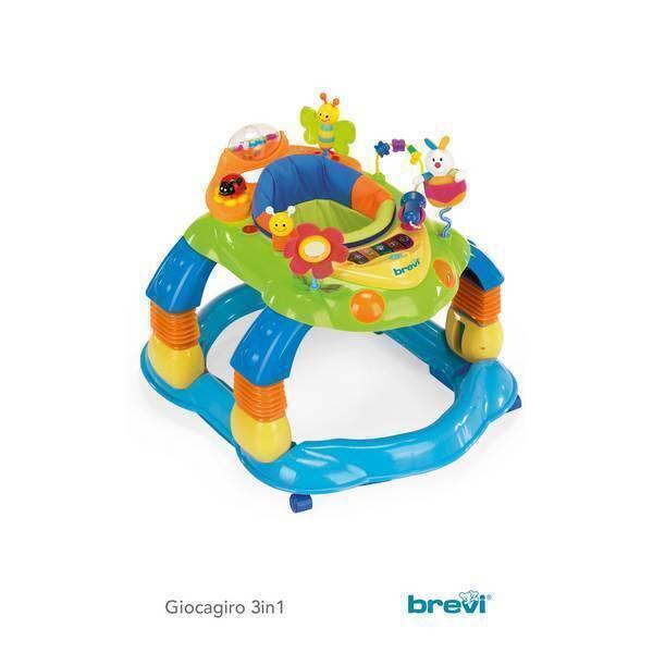 Brevi - Trotteur 3 en 1 Giocagiro Multicolore bleu