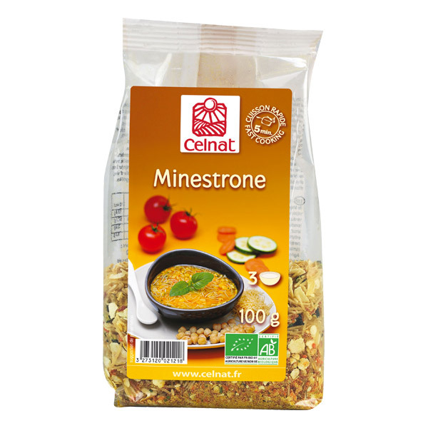 Celnat - Soupe Minestrone bio 100g