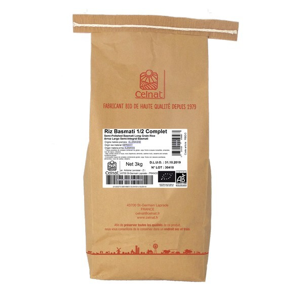 Celnat - Riz Basmati demi complet bio - 3Kg