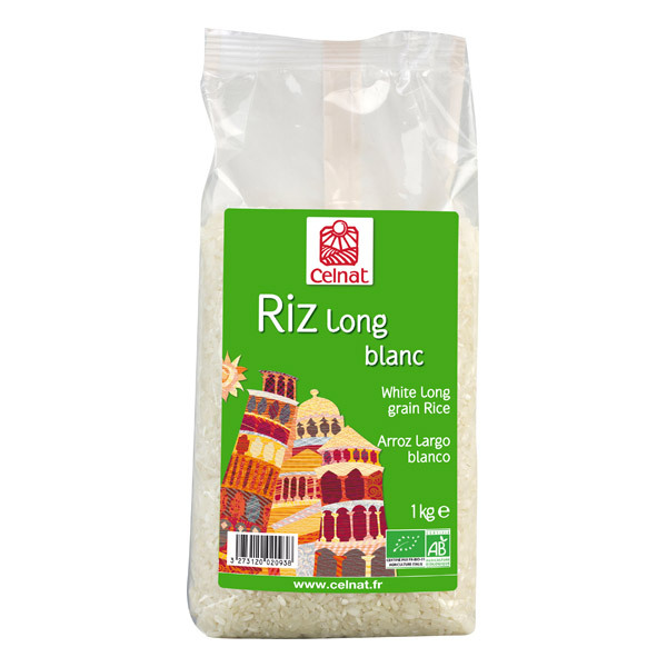 Celnat - Riz Long blanc bio - 3Kg