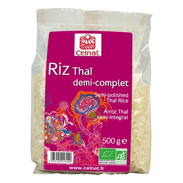 Celnat - Riz Thaï demi complet bio - 3Kg