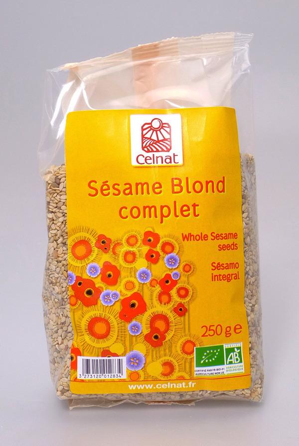 Celnat - Sésame blond complet Bio 3kg