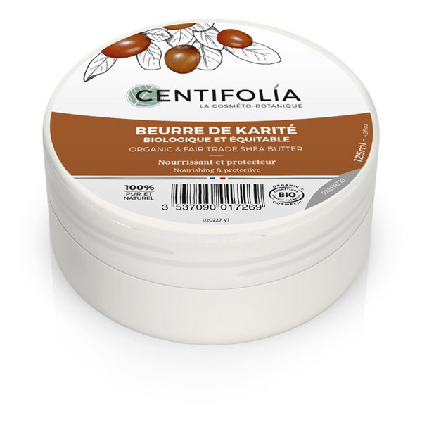 Centifolia - Beurre de karite biologique et équitable - 125 mL