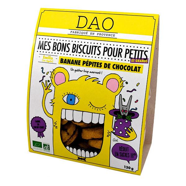 Dao - Biscuits Banane et Pépites de chocolat - 130 g