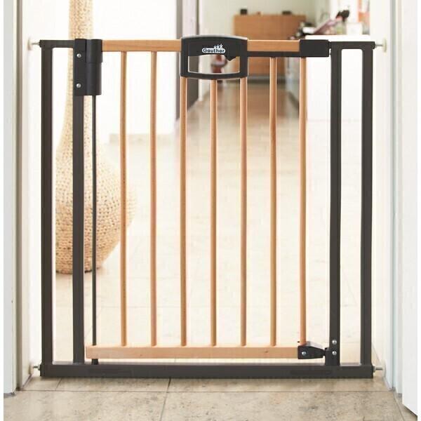 barri re easy lock wood sans percer 68 76 cm geuther. Black Bedroom Furniture Sets. Home Design Ideas
