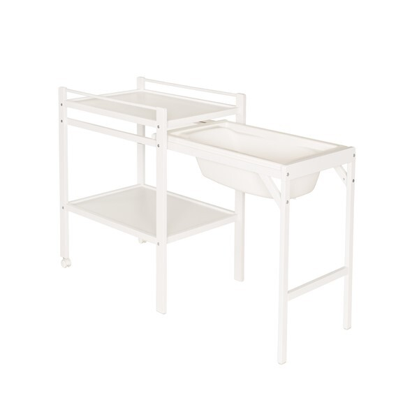 Table langer coulissante emma blanche geuther natiloo for Table a langer blanche