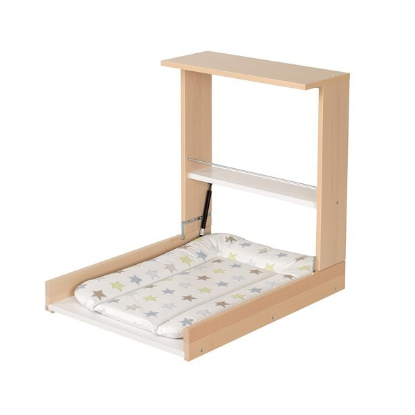 Table langer murale wicki naturelle matelas langer - Table a langer pliable ...