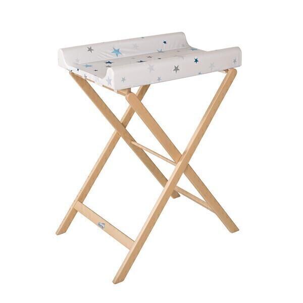 table langer pliable trixi naturelle pvc etoiles bleues. Black Bedroom Furniture Sets. Home Design Ideas