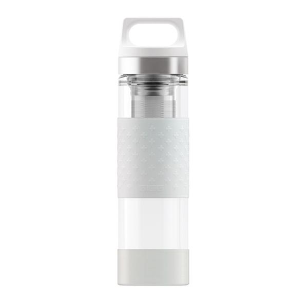 Sigg - Bouteille isotherme Hot & Cold en verre Blanc 40cl