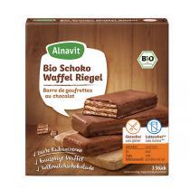 Alnavit - Barre de gaufrettes au chocolat bio 75 g