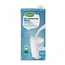Alnavit - Lait sans lactose demi-écrémé bio 1 L