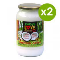 Amanprana - Lot de 2 Coco Love - Huile de coco vierge 1L