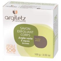 Argiletz - Savon exfoliant corps Argile verte et algues brunes - 100 g