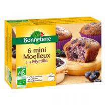 Bonneterre - 6 mini Moelleux à la myrtille 200g