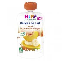Hipp - Gourde Brassé Pêche Banane Mangue