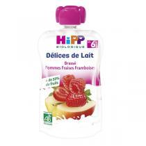 Hipp - Gourde Brassé Pomme Fraise Framboise