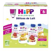 Hipp - Gourdes Brassé Multipack 2 variétés