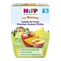 HiPP - Salade de fruits pomme ananas pêche 2x190g