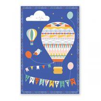 Pirouette cacahouete - 8 cartes d'invitation Montgolfières