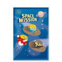 Pirouette cacahouete - Mes cartes invit' - Space mission - Lot de 8