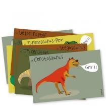 Pirouette cacahouete - Mes invitations - Dinosaures - Lot de 8