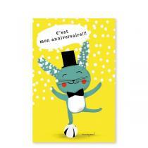 Pirouette cacahouete - Mes invitations - Joyeux Lapin - Lot de 8