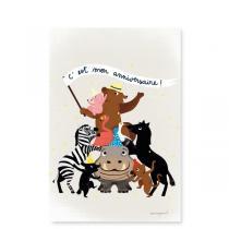 Pirouette cacahouete - Mes invitations - Pyramide d'animaux - Lot de 8