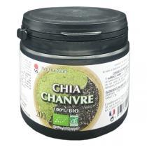 Vecteur Santé - Poudre Chia Chanvre bio - Pot de 200 g