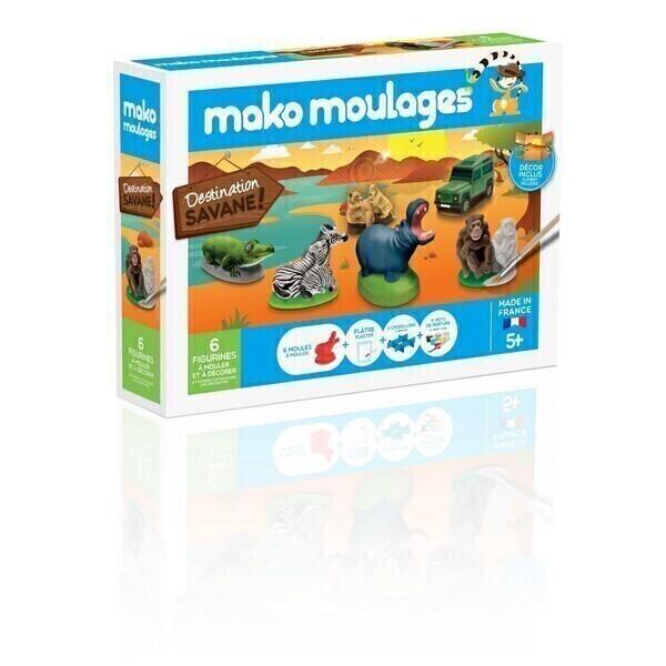 Mako moulages - Coffret 6 moules - Destination Savane -Des 5ans
