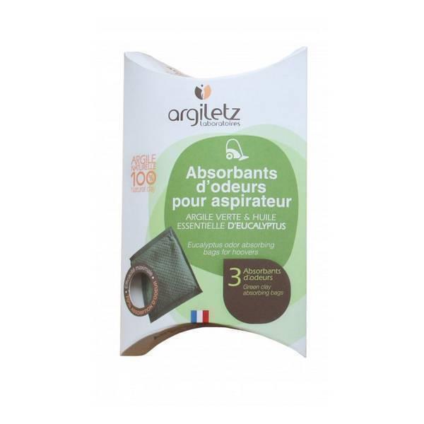 Argiletz - Absorbant d'odeur aspirateur Eucalyptus x 3