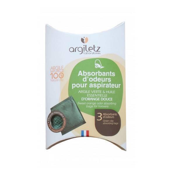 Argiletz - Absorbant d'odeur aspirateur Orange douce x 3