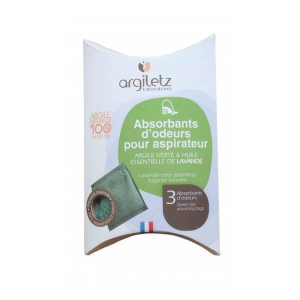 Argiletz - Absorbant d'odeur aspirateur Lavande x 3