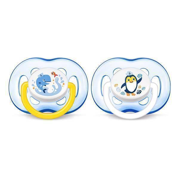 Avent - 2 sucettes aérées - 18 mois + - Bleues