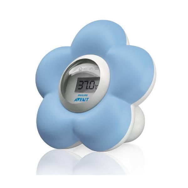 Avent - Thermomètre numérique - Bain et chambre - Fleur bleue
