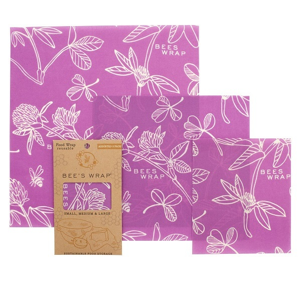 Bee's Wrap - Emballage réutilisable 3 tailles Clover