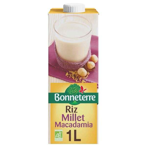 Bonneterre - Boisson Riz millet macadamia 1L